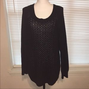 Calvin Klein Oversized Black Knit Sweater XXL